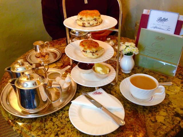 An afternoon Cream Tea at Bettys in York