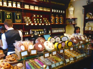 The shop at the entrance to Bettys Tea Room, York