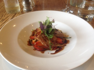 Crisp Pork Belly over Asian Slaw at The Bell, Alderminster