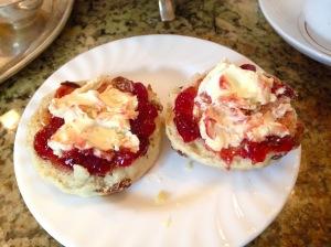 Scone, Strawberry Jam & Clotted Cream at Bettys