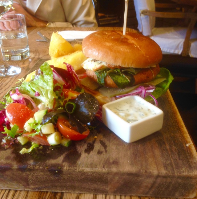 Vegetarian Burger at The Bell, Alderminster