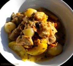 Pork Braised in Cider with Apples & Shallots