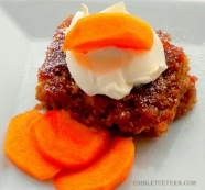 Persimmon Ginger Pudding Cake