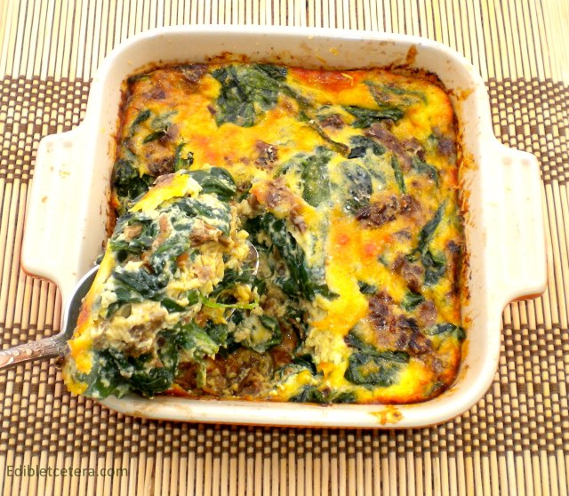 Spinach baked with Porcini & Parmesan