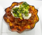 Elk Chili with Roasted Acorn Squash