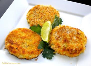 Panko-Crusted Sweet Potato & Salmon Fishcakes