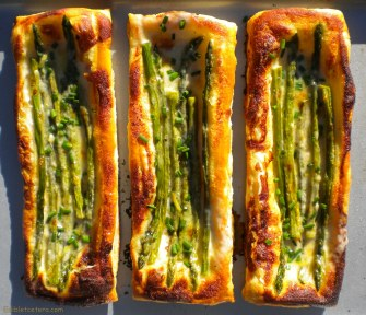 Asparagus Tart with Parmesan & Lemon