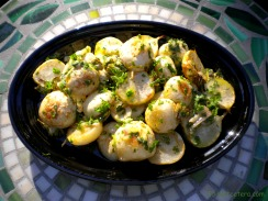 Roast Baby Turnips with a Lemon Herb Vinaigrette