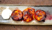 Grilled Plums with Brown Sugar, Cinnamon & Amaretto