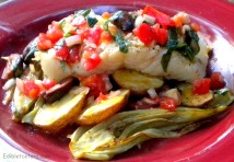 Baked Fish with Roast Potatoes & Fennel