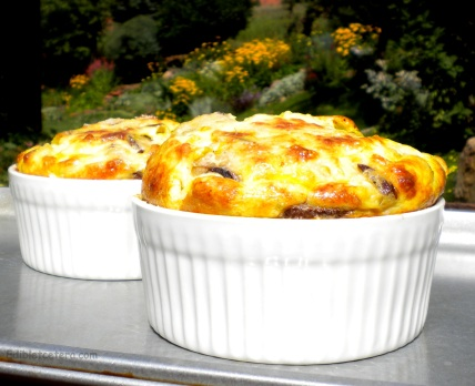 Crustless Leek & Mushroom 'Quiche'