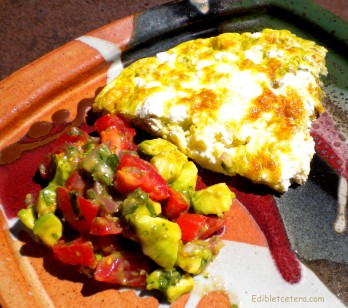 Fire-Roasted Hatch Chili & Goat Cheese Frittata