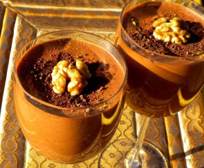 Chocolate, Prune & Walnut Mousse