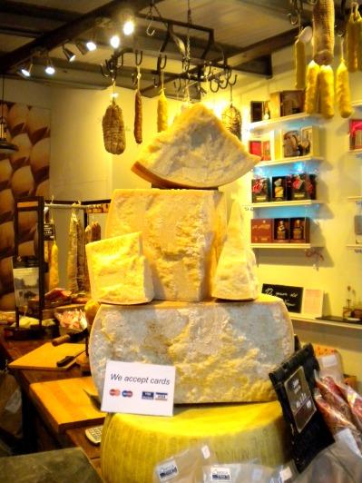different varieties of Parmigiani Reggiano from different varieties of cow...