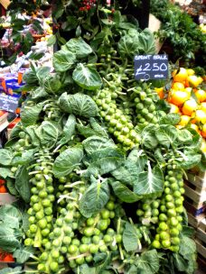 The freshest Brussels sprouts
