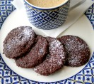 Chocolate Shortbread Cookies with Tart Cherries