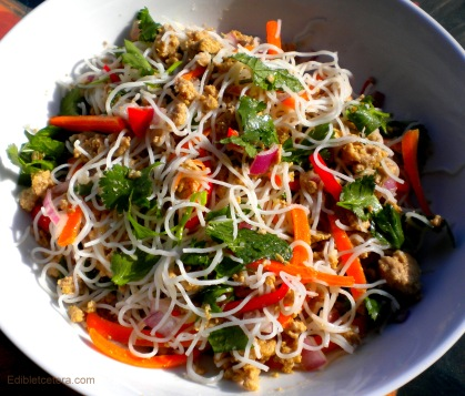 Asian Turkey & Rice Noodle Salad