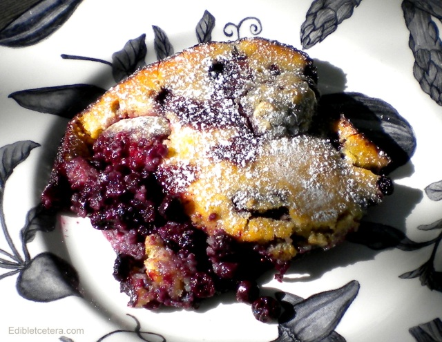 Baked Almond & Tofu Pudding with Berries