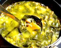 Kale & White Bean Soup with Spicy Sausage
