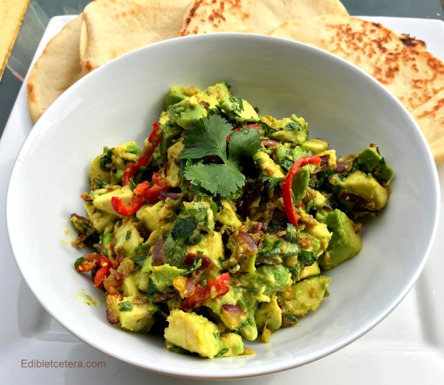 Indian Spiced Avocado with Chili, Ginger & Lime