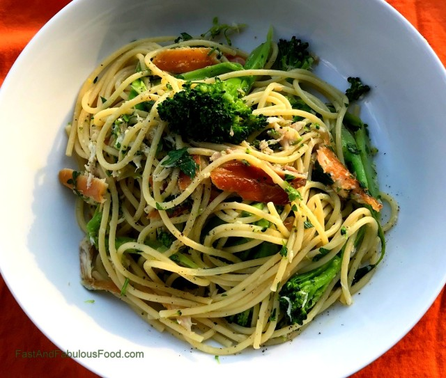 Pasta with Smoked Trout & Broccoli