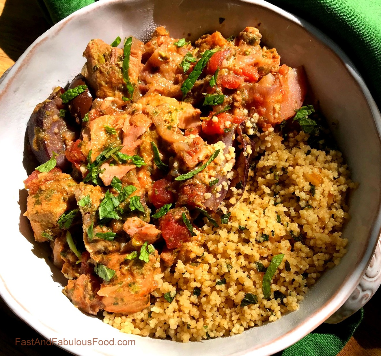 SALMON TAGINE with COUSCOUS