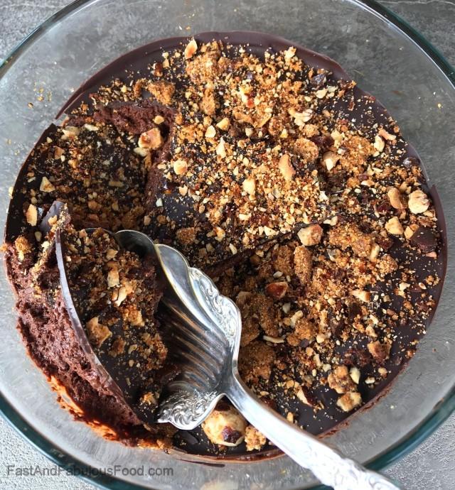 Nigel's Dark Chocolate Mousse with Hazelnut Praline