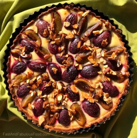 Plum & Almond Custard Tart